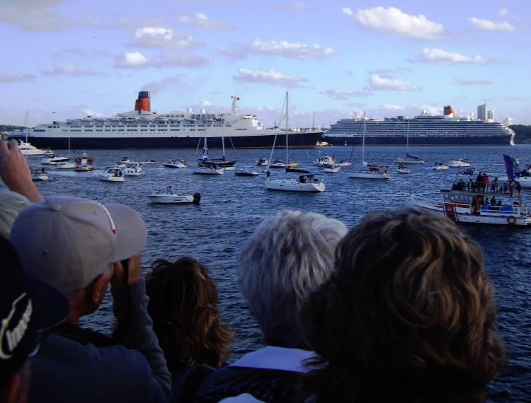 The Two Queens Meet in Sydney Harbour