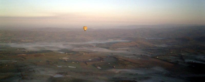 Sunrise from the Wedding Balloon